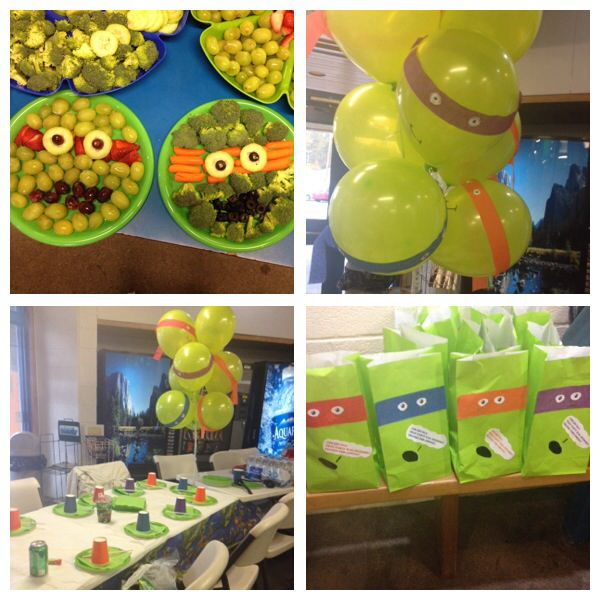 Tmnt birthday party My 6 yr old wanted ninja turtles for his pool