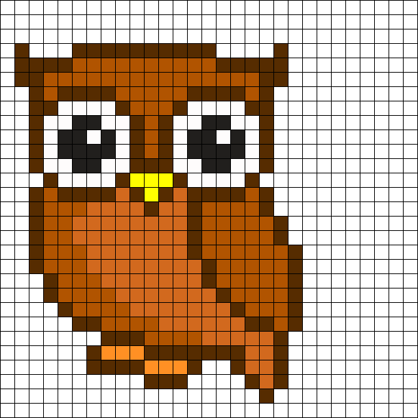 Owl Perler Bead Pattern Crochet Point