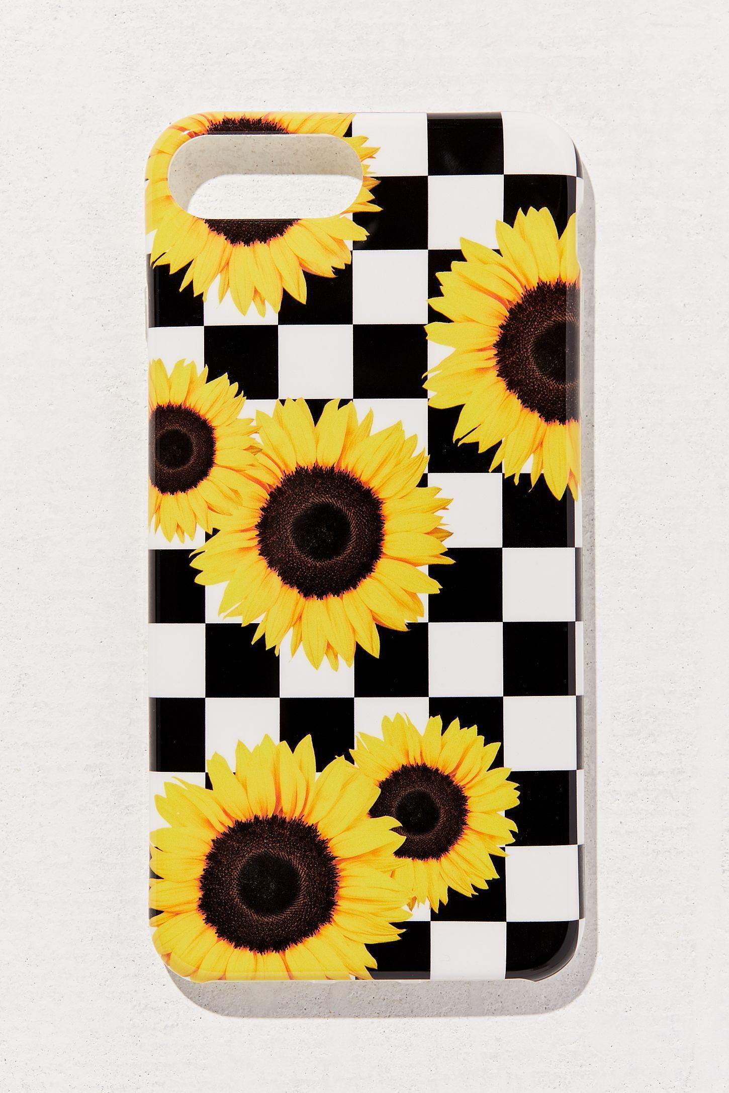 Sunflower Checker iPhone Case