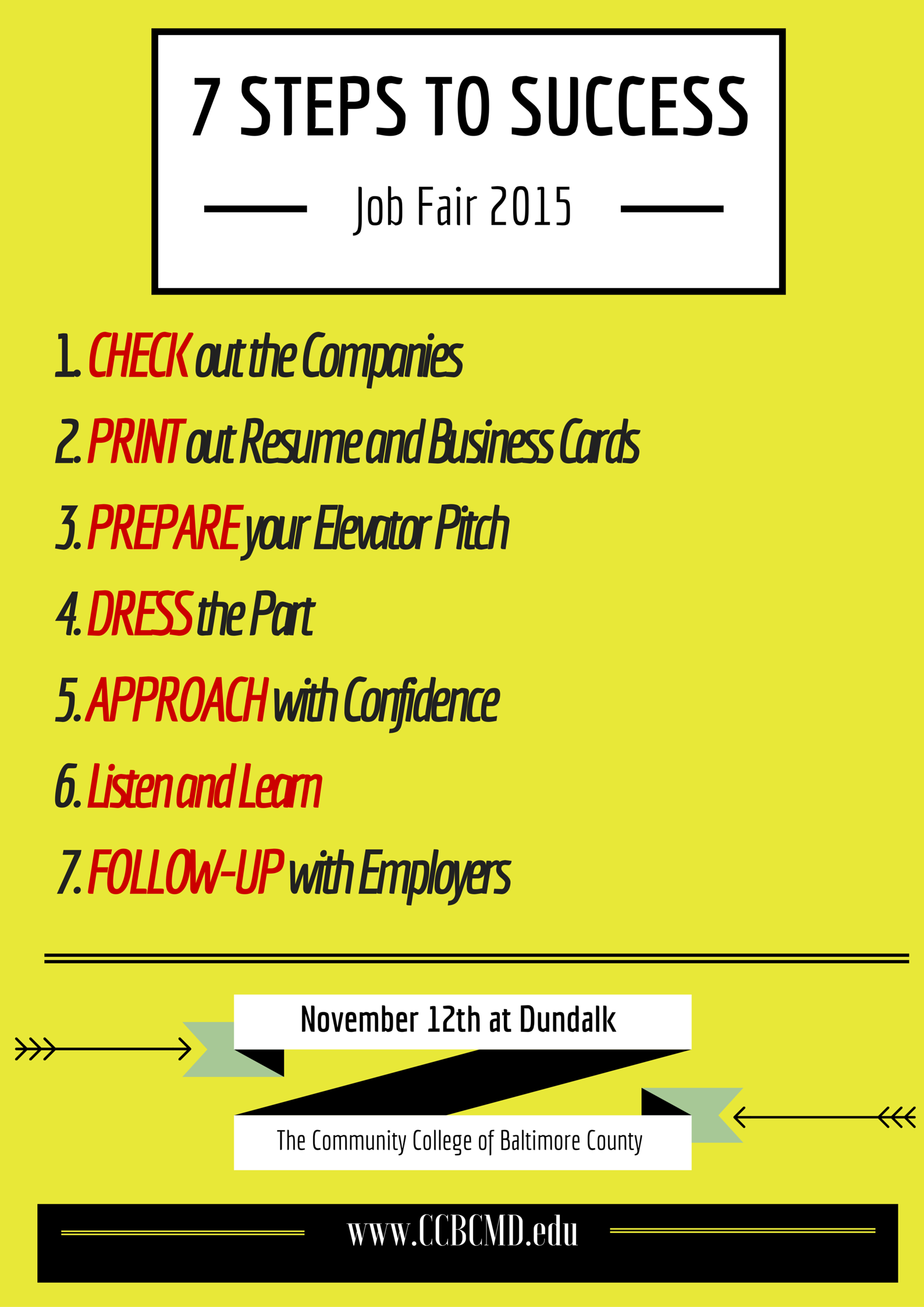 Print Out Resume Coming To Our Job Fair At Ccbc Dundalk Tomorrow Event Page Https .