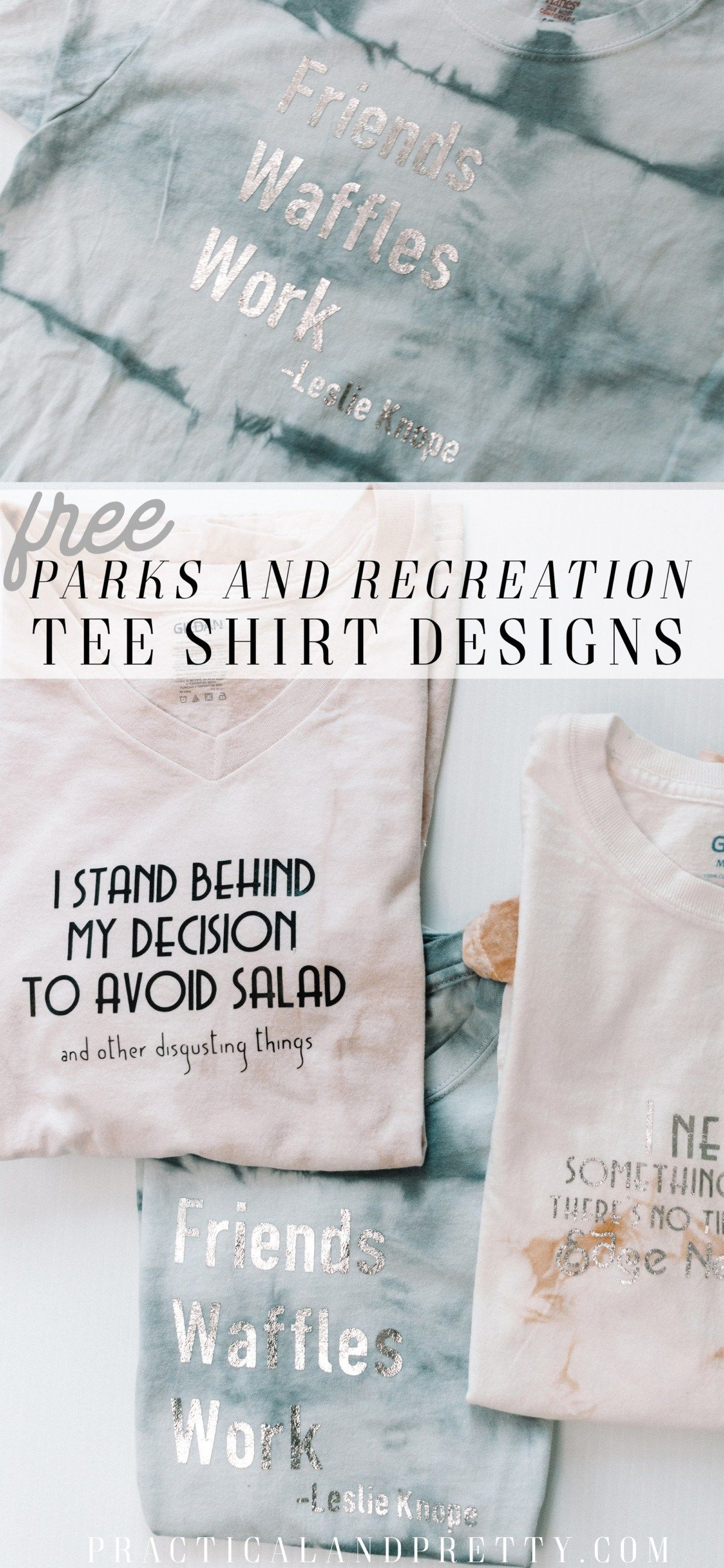 Looking for a DIY gift idea for a Parks and Rec fan in your life? These Parks and Recreation tee shirts are from some of the highlights of the show.