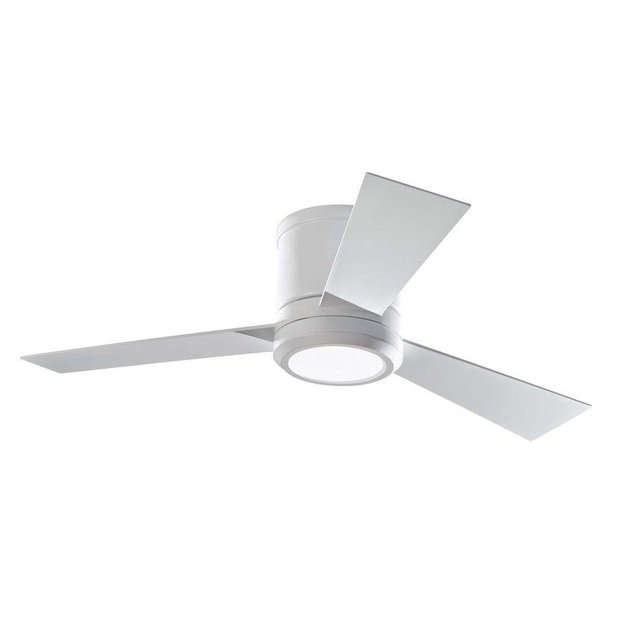 Monte Carlo Fan Company Clarity 42-in Rubberized White Flush Mount ...