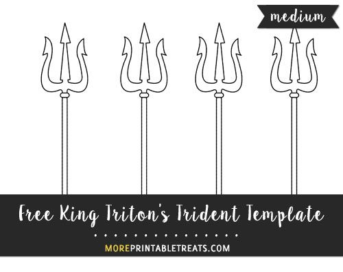 poseidons trident coloring pages   Free King Triton's Trident Template - Medium Size ...