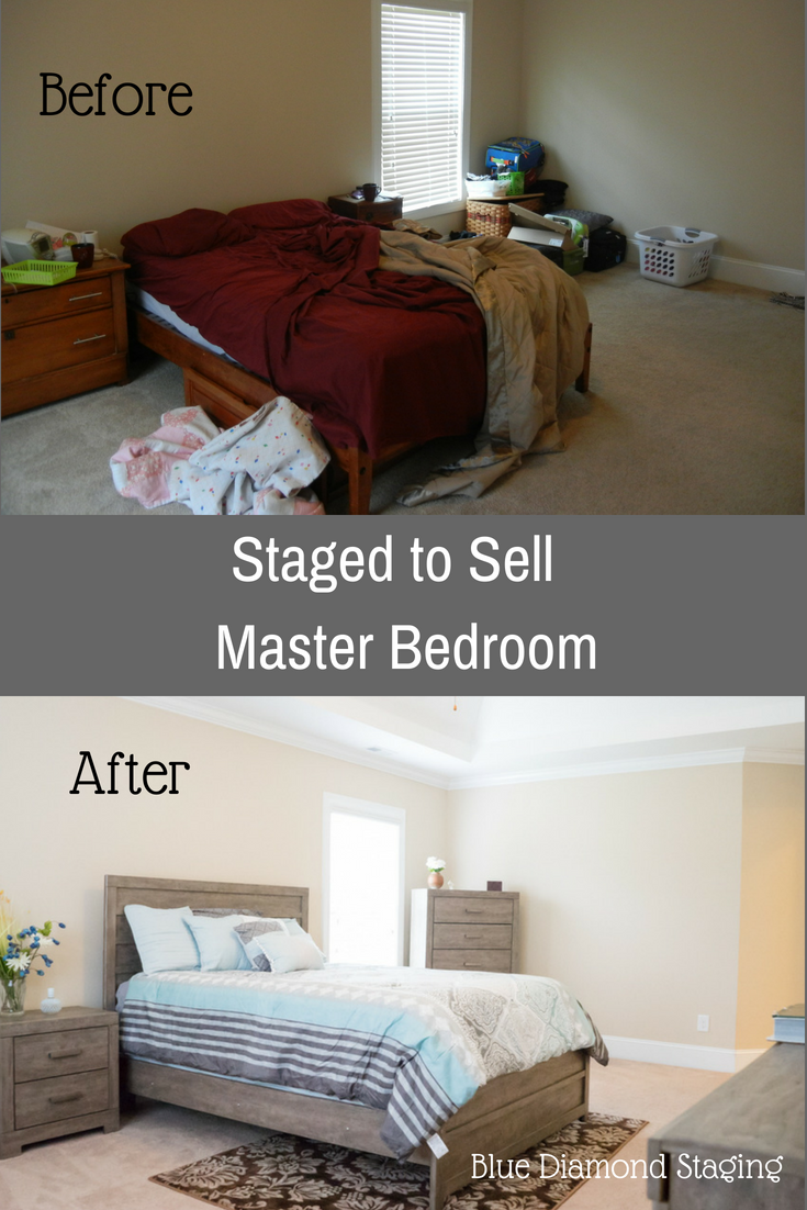 Before Staging This Master Bedroom