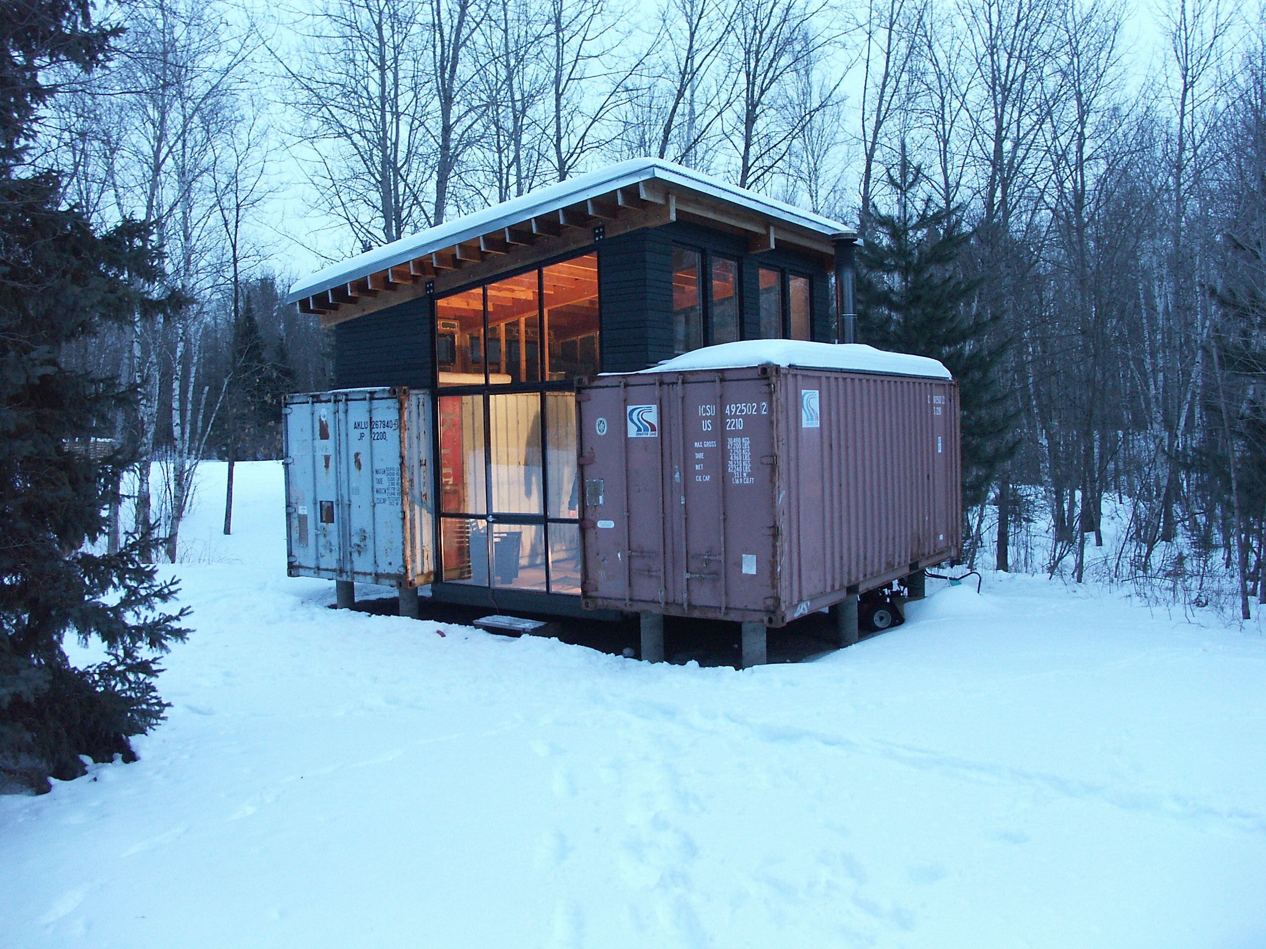Intermodal design stankey cabin holyoke mn Shipping containers for sale in minnesota