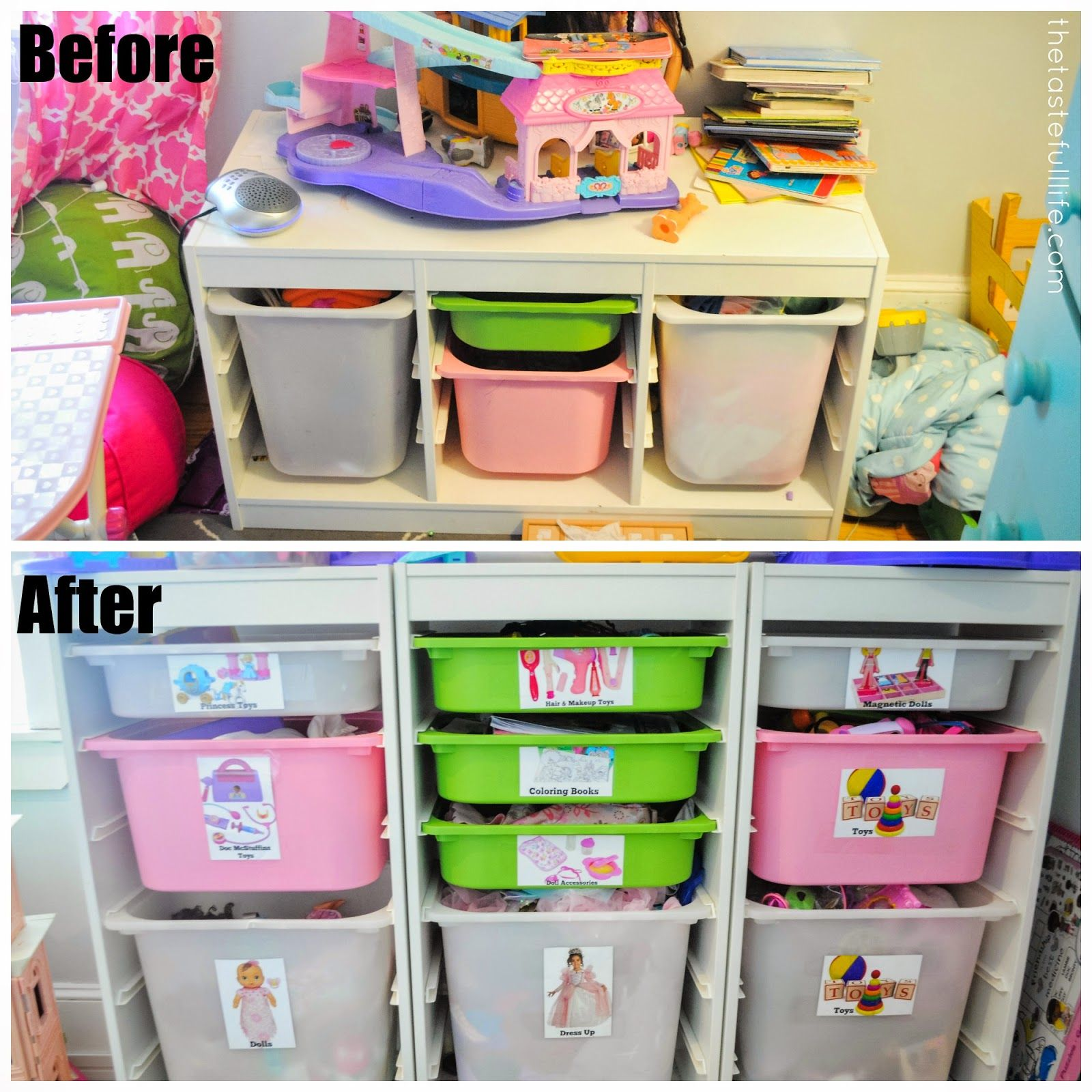Taste Small Space Toy Storage Solution Easy Diy Toy Labels