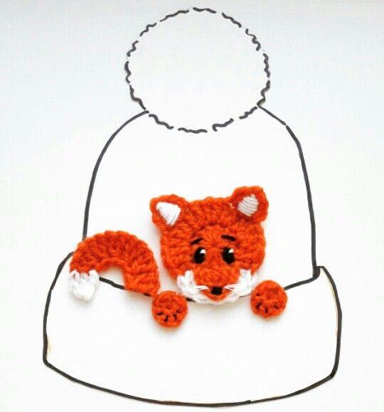 Crochet fox applique. #foxapplique #crochet #craft | cuellos y ...