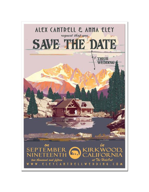 Vintage Lake Tahoe Save the Date Postcard set of 20
