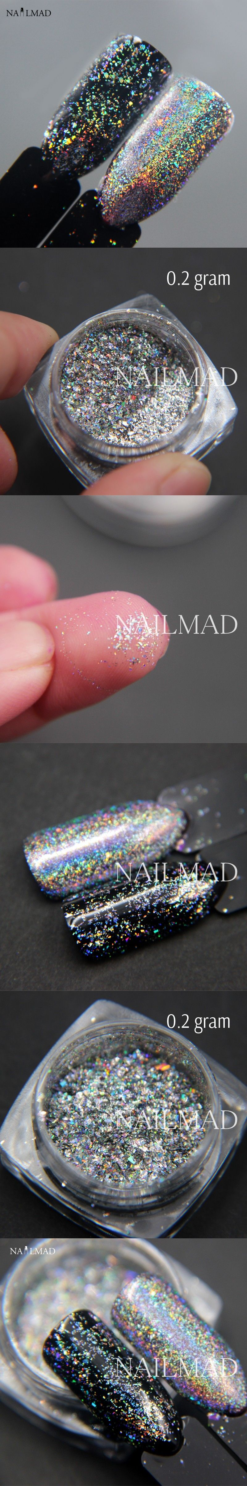 0.2gram/box NailMAD Galaxy Holo Flakes Bling Nail Flecks Powder ...