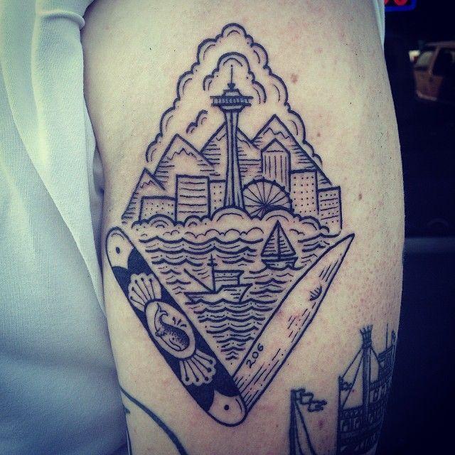 Kyler martz seattle washington pins needles u s for Washington state tattoos
