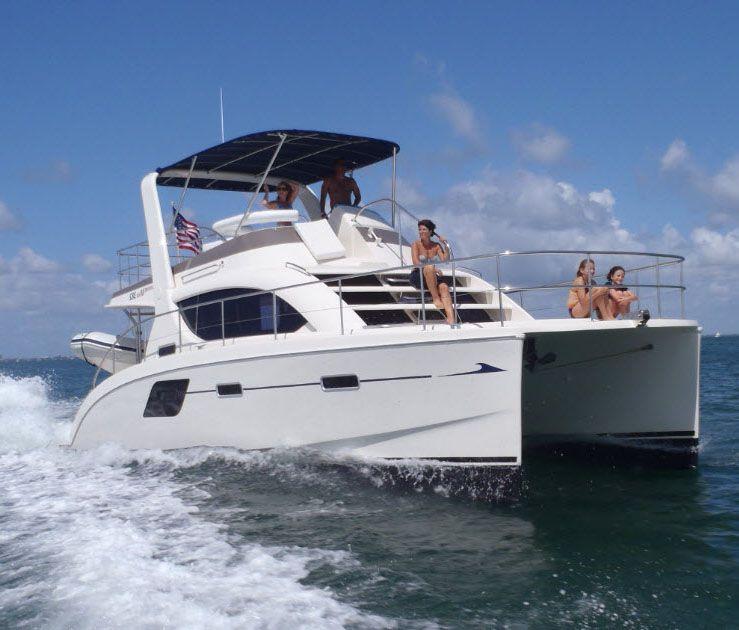 Catamaran Virgin Islands Vacation: MarineMax 382 Power Catamaran