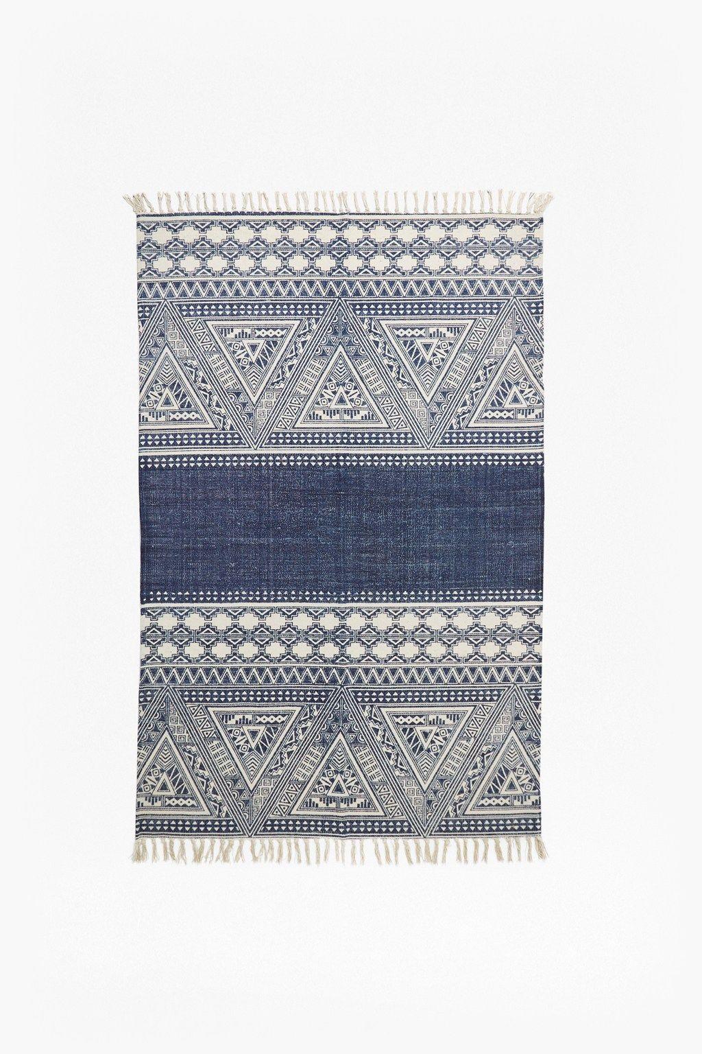 Indigo Aztec Rug New Arrivals French Connection Aztec Rug Coastal Decor Rugs Carpet Handmade