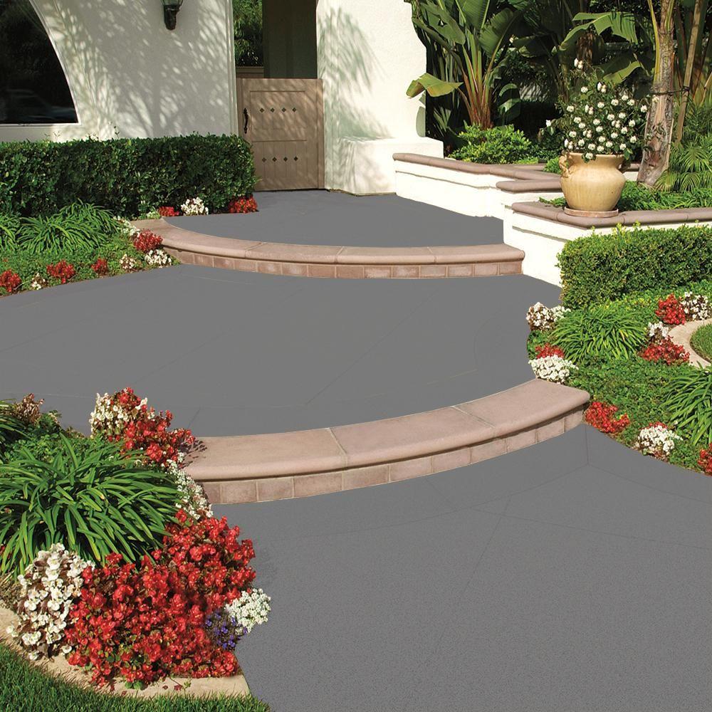 Behr Premium 1 Gal Gray Granite Grip Decorative Flat Interior Exterior Concrete Floor Coating 65 In 2020 Floor Coating Concrete Floor Coatings Exterior Concrete Paint