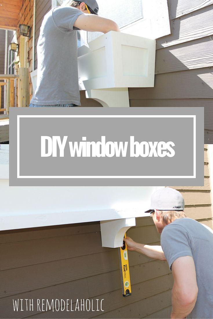 House box window design  diy window box planter tutorial  brico  pinterest  planters