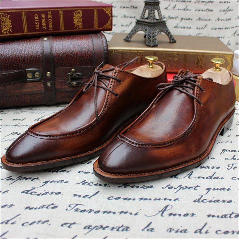 Scarpe da uomo Goodyear fatte a mano da uomo di buona qualità Scarpe  stringate da uomo in vera pelle di puro Manul d7e6f0c7160