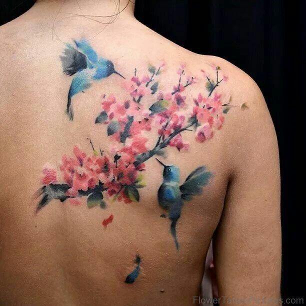 birds cherry blossom 612 612 tattoos pinterest. Black Bedroom Furniture Sets. Home Design Ideas