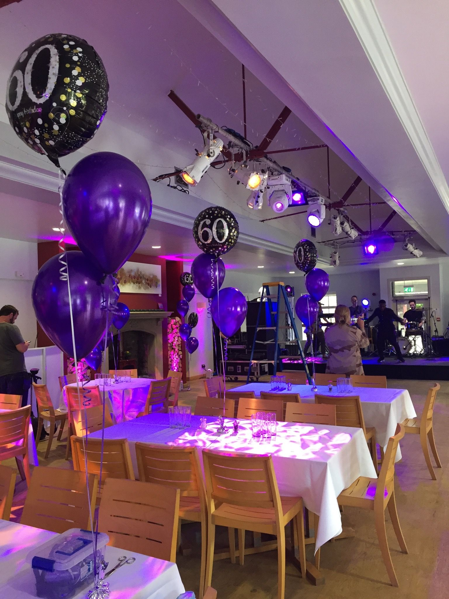Purple 60th Birthday Decorations