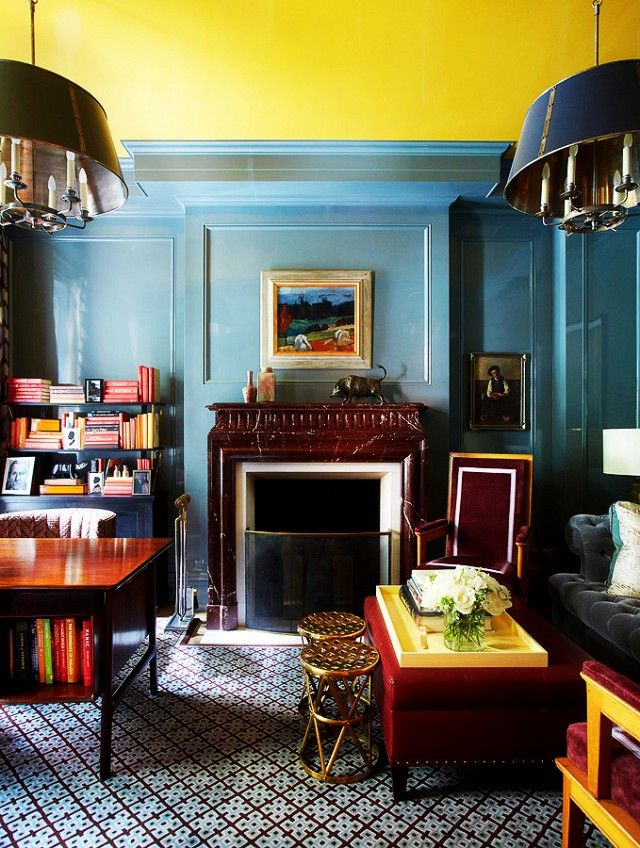 How To Choose The Right Paint Color For Every Room Lacquered Walls Yellow Ceiling Room Colors