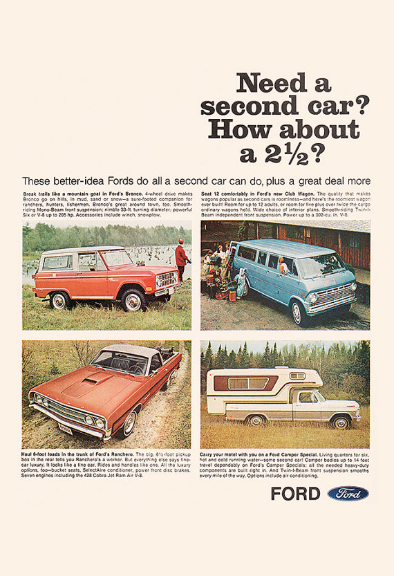 VINTAGE FORD TRUCK Ad – Classic Car Poster Garage Poster Mechanic Car Wall Art Ford Pick-Up Truck Vintage Ford Poster
