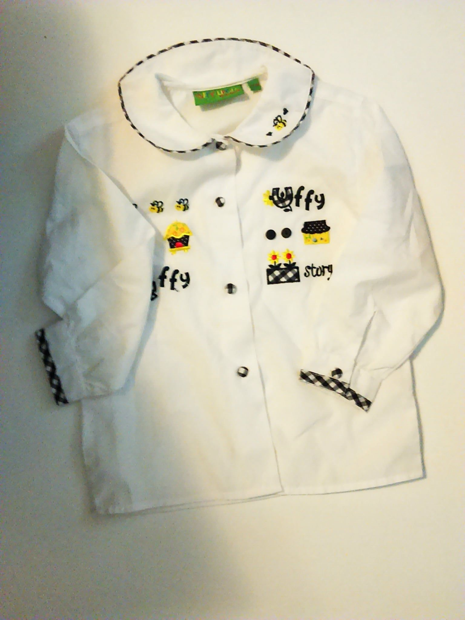 3f9eef48ec Vintage Girls Size 2T-3T Button Down Uffy Uffy top   Nor Tons Top   Girls  Embroidered Top   Baby Gifts   Kid s Vintage Clothing by  JulesCristenVintage on ...