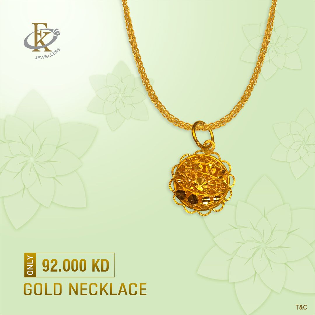 Take A Fabulous Flight Of Elegance With This Exquisitely Designed Product Type Gold Necklace Price 92 000kd Weight 4 6800 Grams Rox