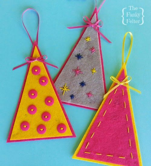 Make Your Own Felt Christmas Tree Ornament -- very easy with just a