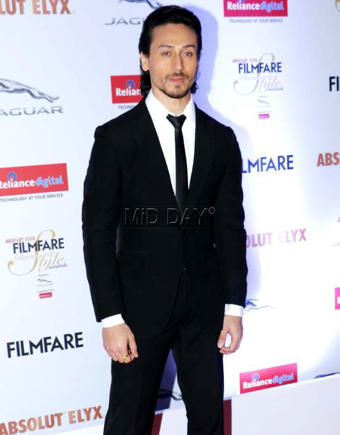 Tiger Shroff at the Filmfare Glamour & Style Awards 2016