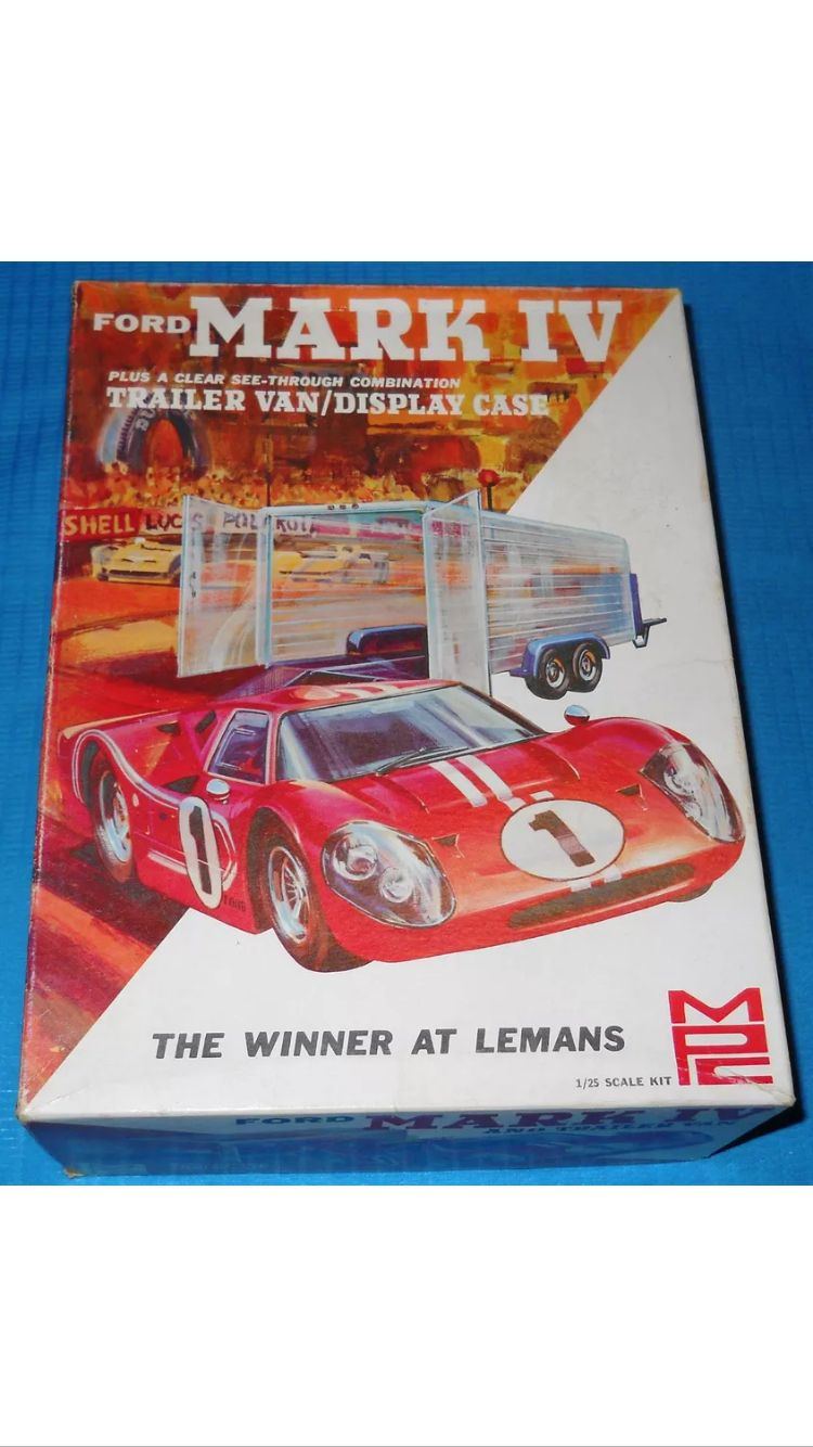 Mpc   Scale Ford Gt  Mk Iv Model Kit Which Also Included A See Through Enclosed Trailer