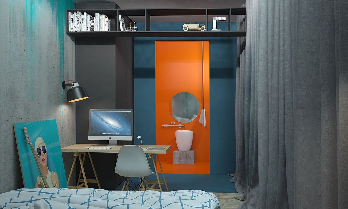 Décorer un appartement avec des couleurs primaires | Achille ...
