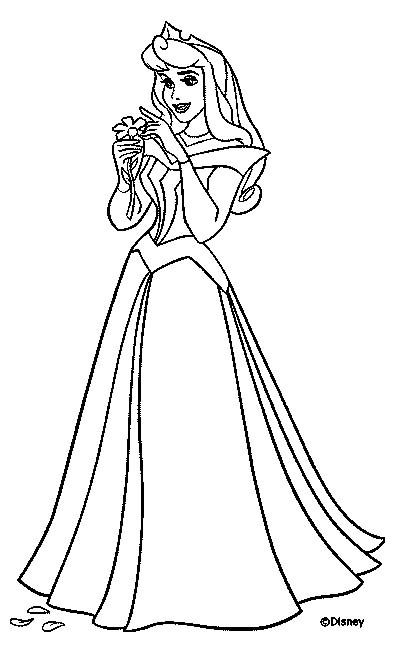 Princess Coloring Page Print Princess Pictures To Color At Allkidsnetwork Com Princess Coloring Pages Sleeping Beauty Coloring Pages Princess Coloring Sheets