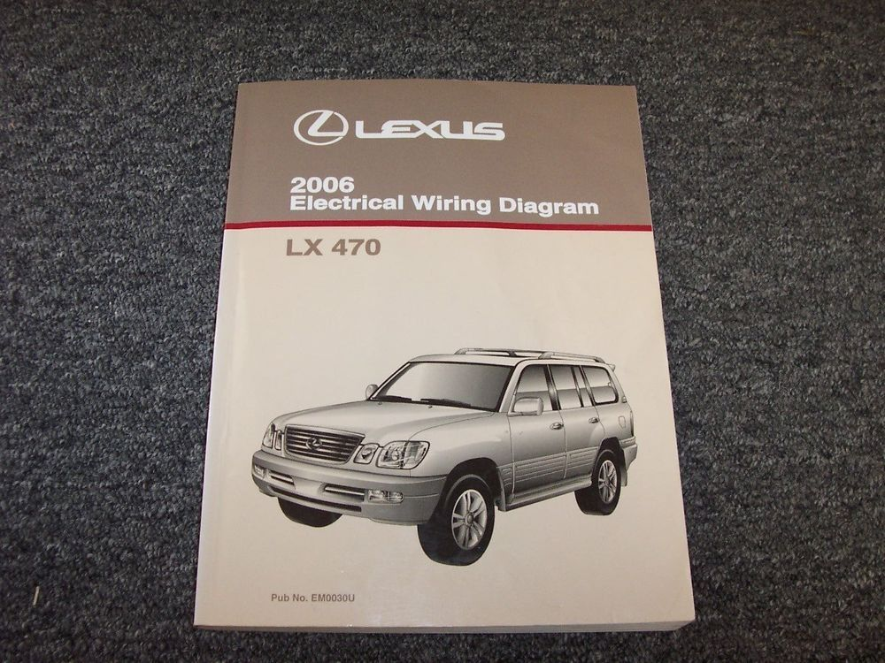 2006 Lexus Lx470 Suv Factory Original Electrical Wiring Diagram Manual 4 7l V8