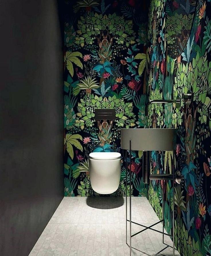 Dschungel Tapete Badezimmer Einrichtung Botanik Look Design Kinderzimmer Badezimmer Tapete Dschungel Tapete Badezimmer Einrichtung