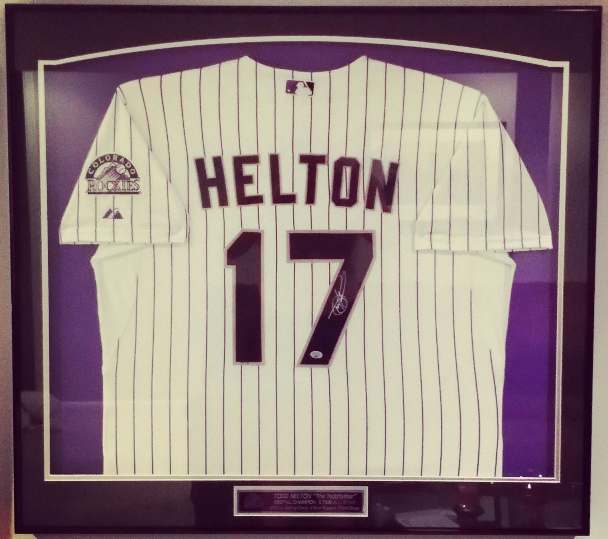 Though football season has begun, we frame baseball jerseys all year ...