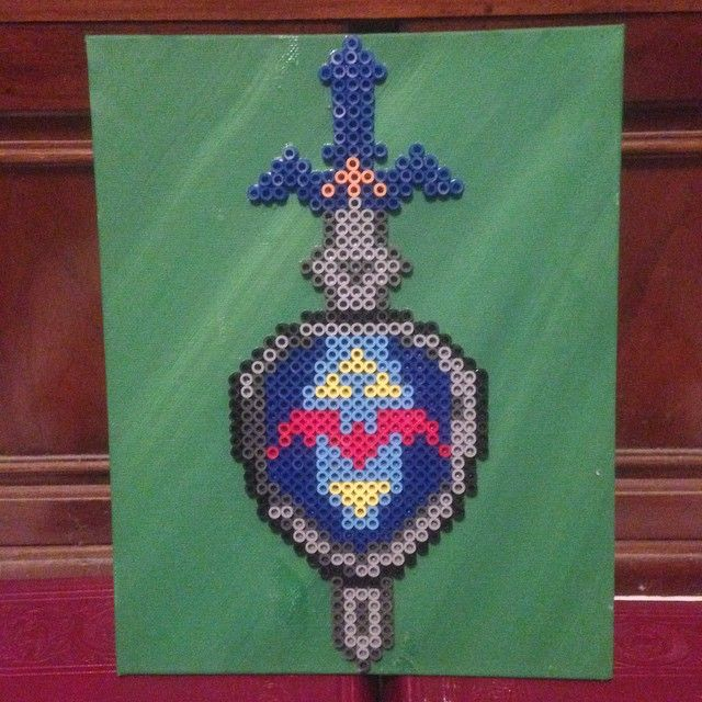 Loz Master Sword And Hylian Shield Combo Perler Beads By Amc6686
