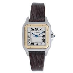 Cartier yellow gold stainless steel Panther Midsize Quartz Wristwatch