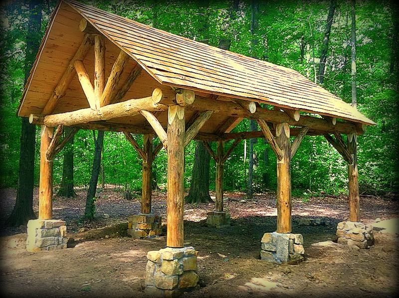 Pavilion rustic homes pinterest pavilion cabin and for Rustic gazebo plans