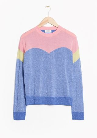 Colour Block Glitter Sweater | Pink/Blue | & other stories, Other ...