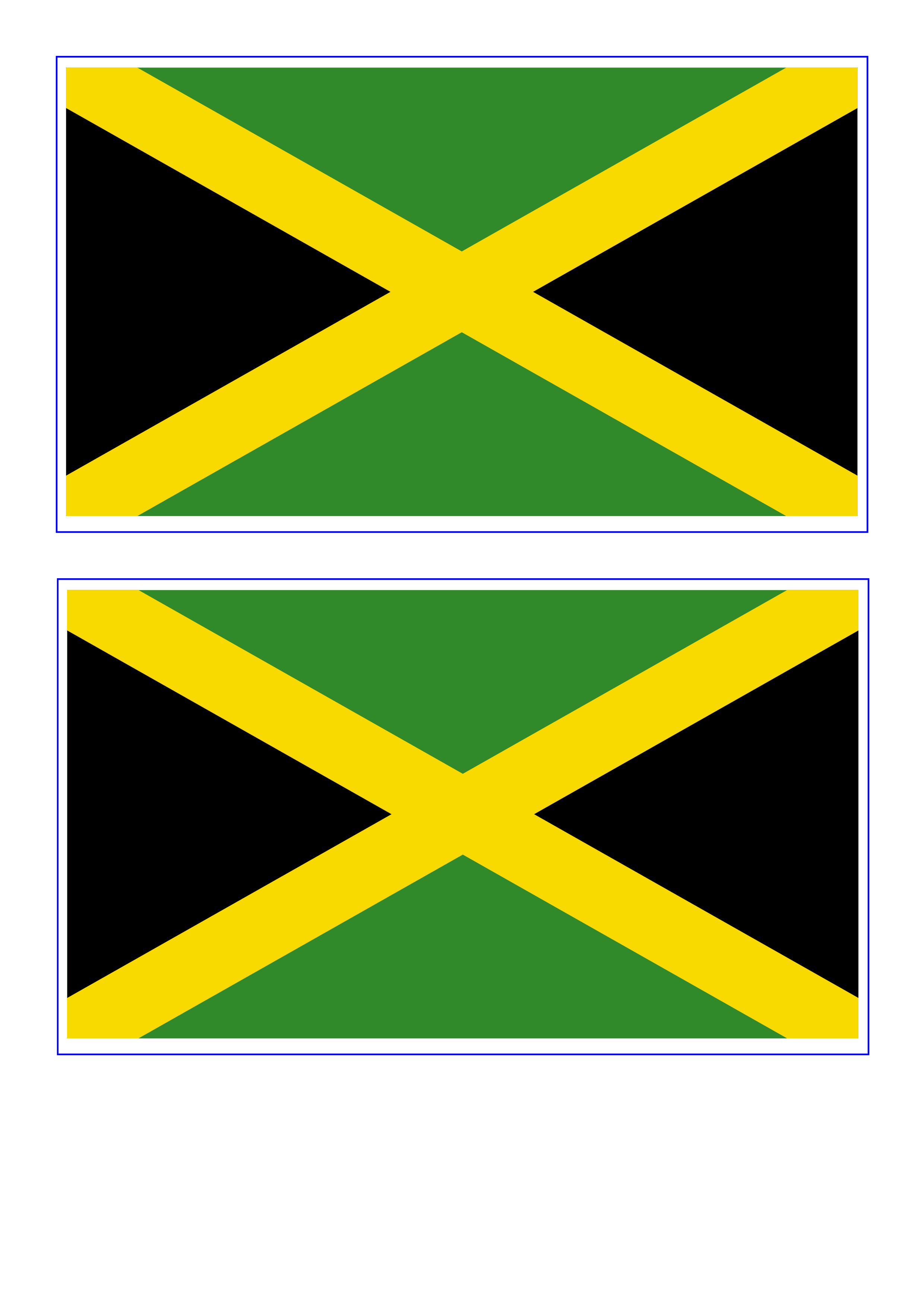 Jamaica Flag - Free Printable Jamaica Flag | pool | Pinterest ...
