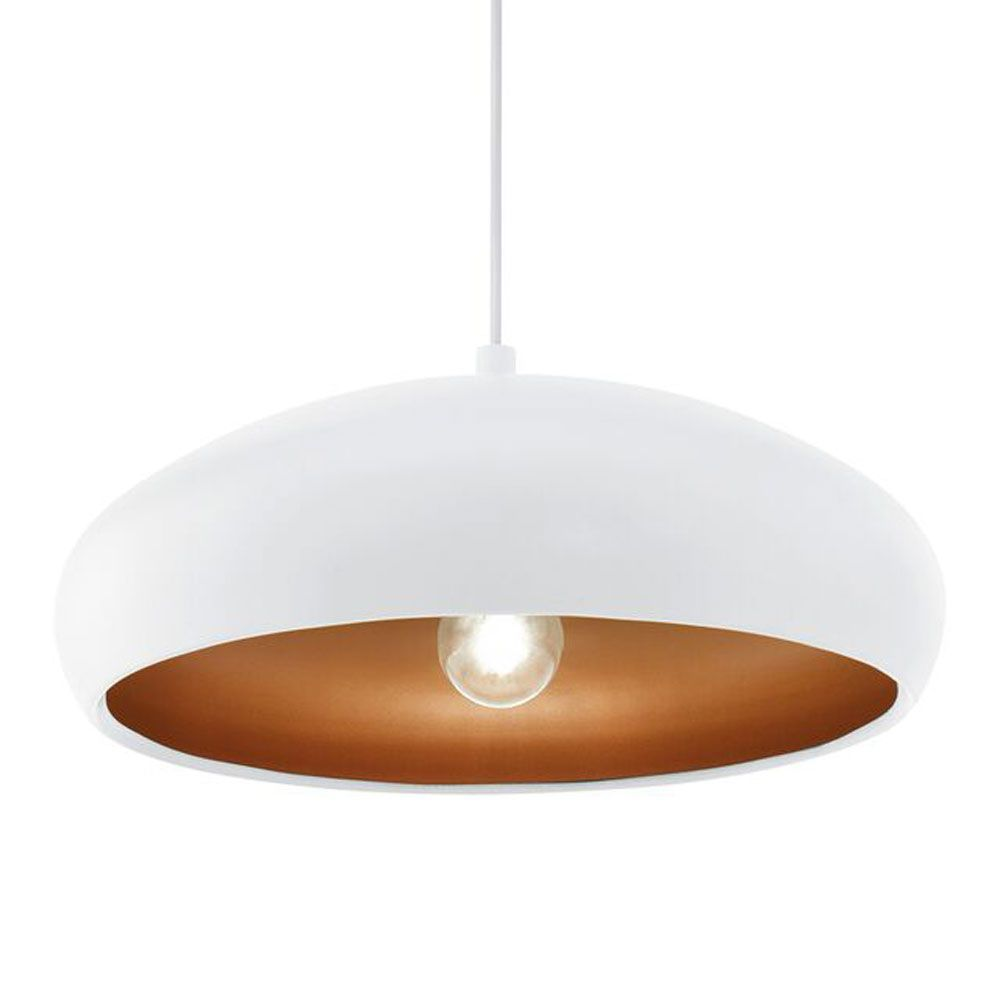 Kitchen pendants eglo mogano 1 pendant light 94606 white eglo 94606 white and copper mogano 1 pendant light arubaitofo Images