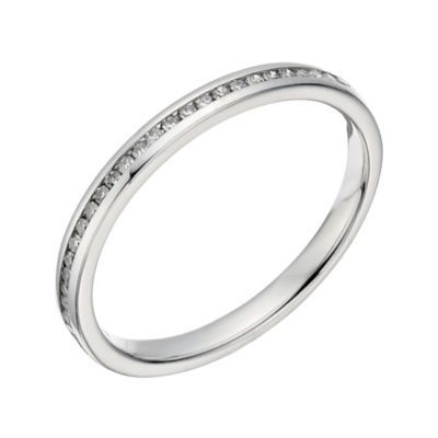 Platinum 10 Point Diamond Channel Set Ring Platinum Jewelry Rings Platinum Ring