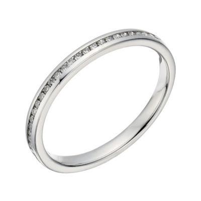 Platinum 10 Point Diamond Channel Set Ring Platinum Jewelry Rings Platinum Ring