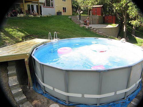 Newbie Agp Install On Steep Slope Mn Backyard Pool In Ground Pools Sloped Backyard