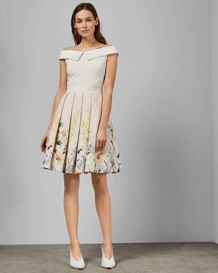 c8ebfbcf3 Ted Baker OCEANNE Elegant full skirt dress in 2019