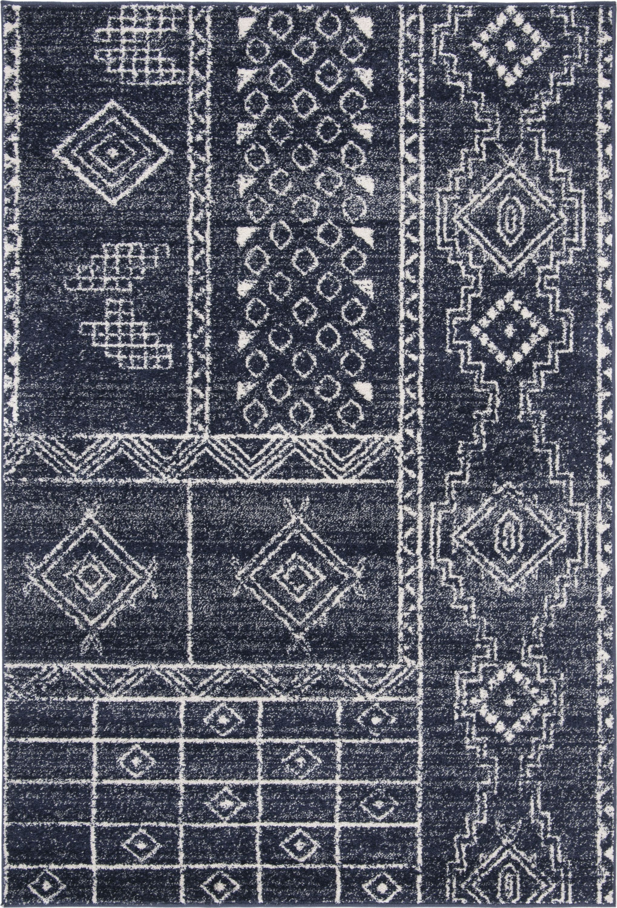 Adr206n Rug Color Navy Silver Size 6 Square Area Rugs Rugs Colorful Rugs
