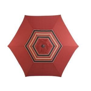 Martha Stewart Living Cedar Island 9 Ft Patio Umbrella In Red