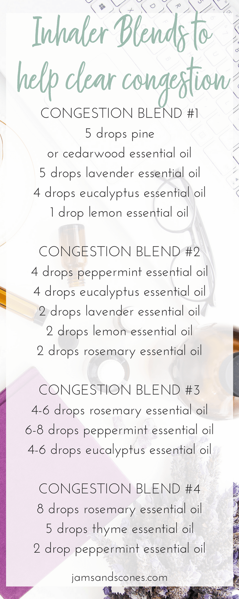 DIY Essential Oil Inhaler Recipes for Colds & Flu - Jams and Scones