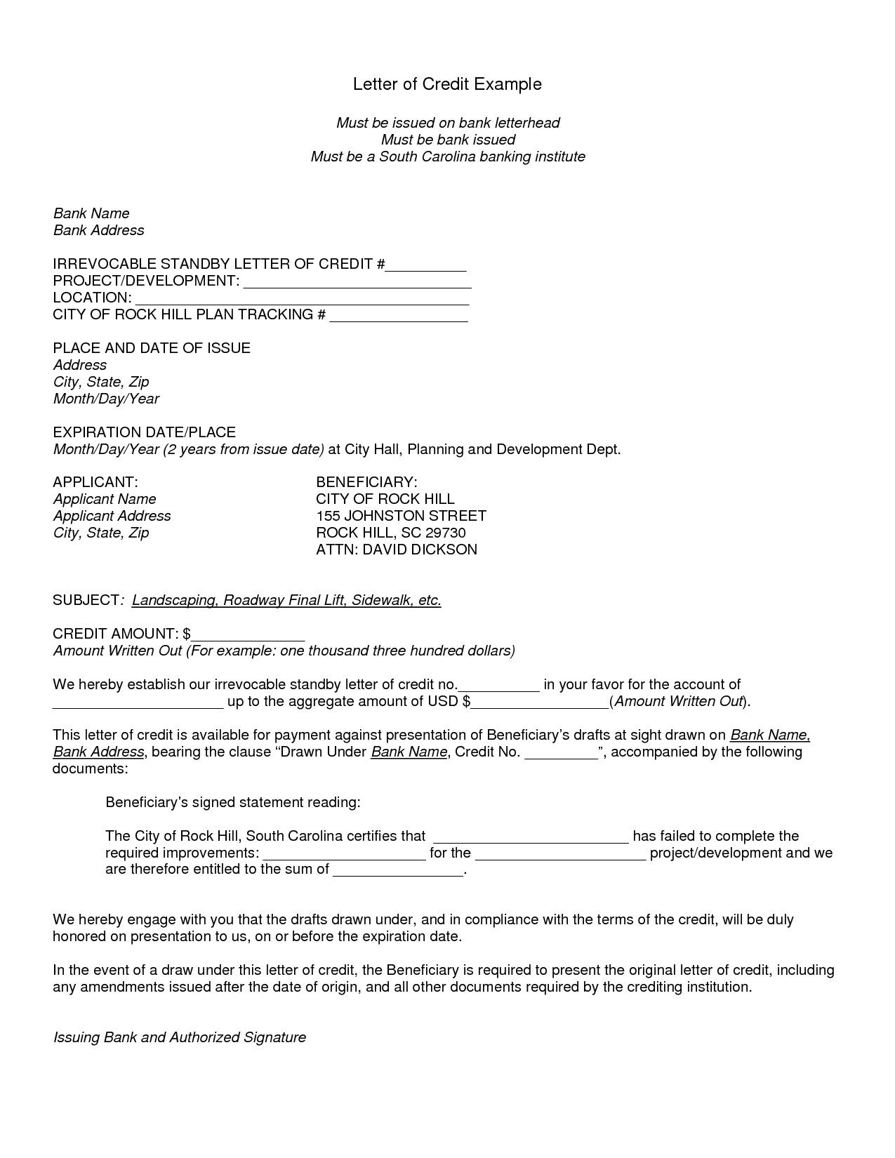 Awesome Irrevocable Letter Of Credit Awesome Irrevocable Letter Of