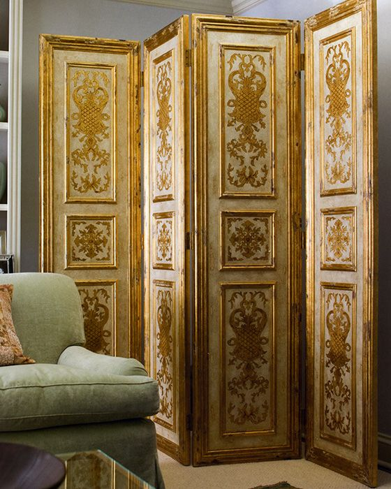 folding screens - folding screen with raised borders and ...