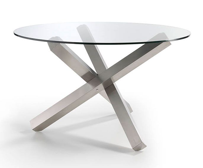 Mesa Redonda de cristal Vedaric Material: Cristal Material: y acero ...