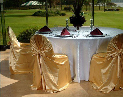 Anna Chair Cover & Wedding Linens Rental Burnaby Bc Diy Adirondack From Pallet Gold Covers With White Table Cloths Indian American